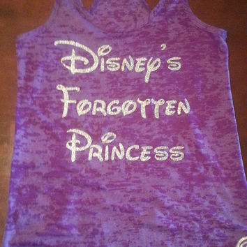 Disney's Forgotten Princess.Womens Workout Tank Top. Fitness Tank Top.Womens Burnout tank.Crossfit Tank Top.Running Workout Tank.