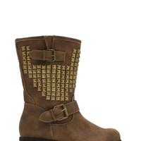 Studded Affair Buckled Boots