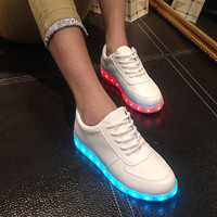 Lightning Shoes Round-toe Low-cut Flat Casual LED Lights [6734552775]