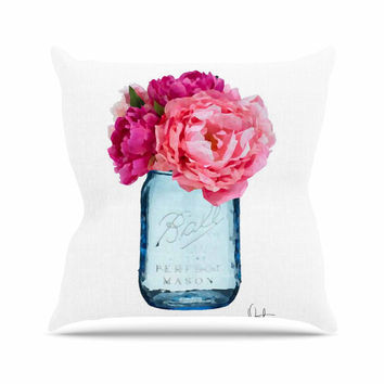 "Oriana Cordero ""Perfect Mason"" Blue Pink Throw Pillow"