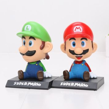 Super Mario party nes switch 14cm Game  Bros BobbleHead Ornament Cartoon PVC Action Figure Model Toy AT_80_8