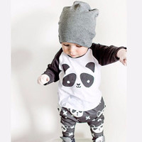 Baby Boy Panda Printed Clothes