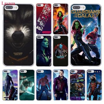 Lavaza Guardians of the for Galaxy Marvel Hard Phone Case for Apple iPhone 8 7 6 6S Plus X 10 5 5S SE 5C 4 4S