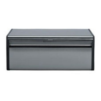 Brabantia Fall Front Bread Bin in Matt Steel