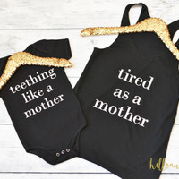 Mommy and Me Shirts, Mommy and Daughter Shirts, Womens Tank Top