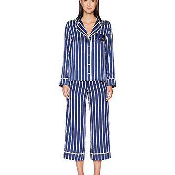 Kate Spade New York Stripe Cropped Pajama Set