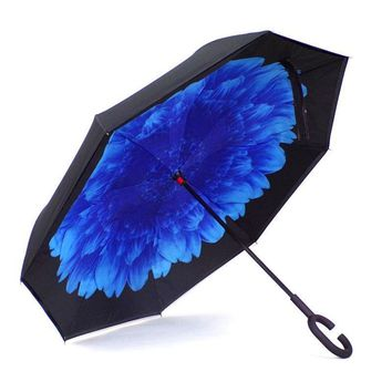Ceiourich Car Reverse Umbrella Double Deck Long Handle Non-automatic Free Umbrellas Customized Logo Umbrella-001