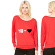 tennis - 40 - LOVE (2 colors) - tennis-shirts.net women's long sleeve tee