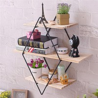Triangle 3 Layer Wall Mounted Organizer Shelves
