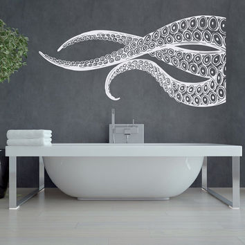 Kraken Octopus Tentacles Large Wall Decals- Nautical Wall Decal Sea Animals- Ocean Wall Decal- Octopus Tentacles Wall Art Bathroom Decor #55