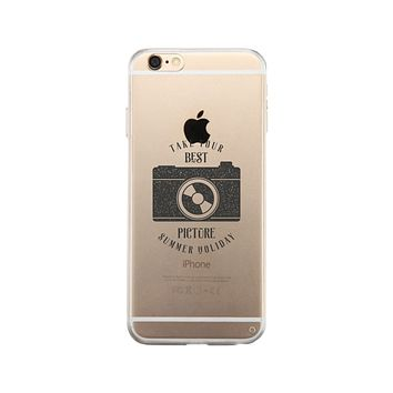 Take Your Best Picture Summer Holiday Clear Phone Case