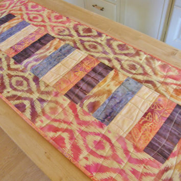 Quilted Table Runner - Ikat Batik