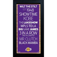 Steiner Sports Los Angeles Lakers 6'' x 12'' Vintage Subway Sign (Lak Team)