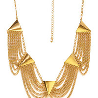 FOREVER 21 Scalloped Chain Necklace Gold One