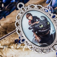 Hiccup Riding Toothless Pendant - How to Train Your Dragon -  Handcrafted Charm - Toothless and Hiccup Necklace
