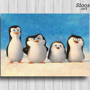 arctic nursery poster penguins of madagascar dreamworks