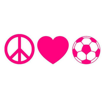 PEACE LOVE SOCCER Vinyl Decal Great for Macbooks by OwlOutfitters