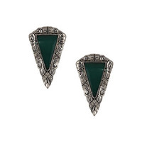 Freedom Found Collection Green Triangle Earrings - Turquoise