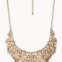 Antiqued Cutout Filigree Necklace