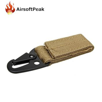 Molle Tactical Accessory Buckle Nylon Hook Keychain Multi-Use Sling Clips Quick Release Outdoor Military Hunting Equipment Tool
