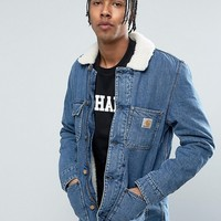 Carhartt WIP Denim Phoenix Jacket With Faux Shearling Collar at asos.com