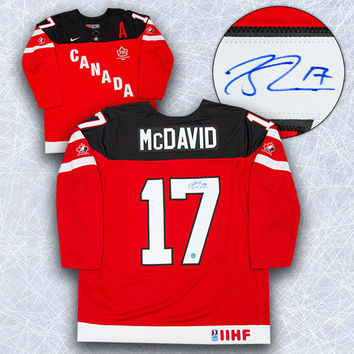 CONNOR MCDAVID 100TH ANNIVERSARY TEAM CANADA AUTOGRAPHED JERSEY