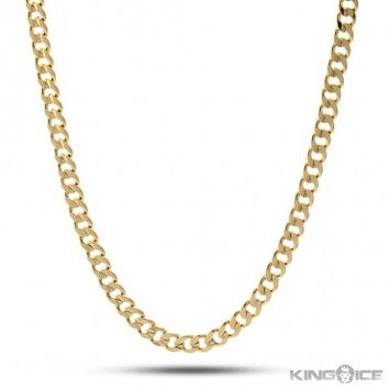 5mm King Ice 14K Gold Cuban Curb Chain | Hip Hop Jewelry | Urban Style Chain