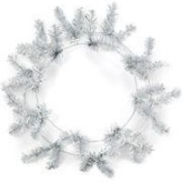 46 Tips Metallic Silver Elevated Work Wreath Form