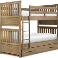 Chesterfield Bunk Beds in a driftwood finish