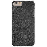 Black Leather Texture Mens Iphone 6/6s Plus Case