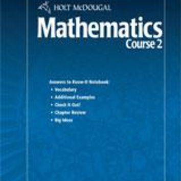 Holt McDougal Mathematics Know-It Notebook Teacher's Guide (No Transparencies) Course 2
