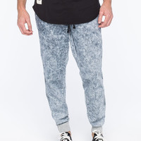 Tokyo Five Acid Wash Mens Jogger Pants Indigo  In Sizes