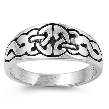 925 Sterling Silver Wiccan Pagan Artistry Inscribed Ring