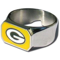 NFL Green Bay Packers Steel Bottle Opener, Ring Size 12