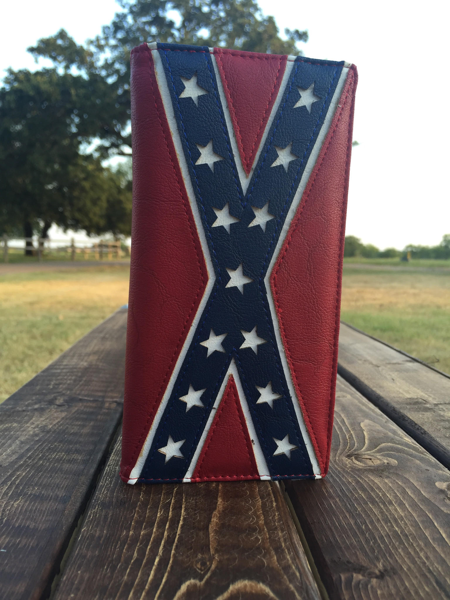 Confederate Flag Bench Seat Covers Velcromag