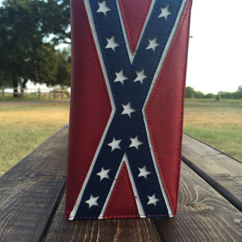 Mens Rebel Flag Wallet