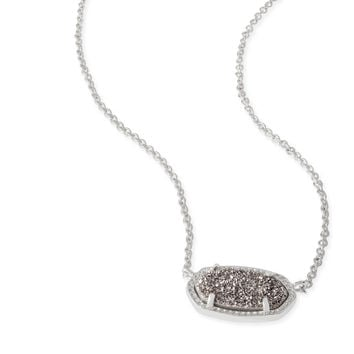Kendra Scott - Elisa Necklace Rhodium with Platinum Drusy