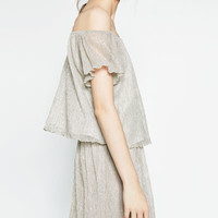 OFF - THE-SHOULDER TOP-View all-WOMAN-NEW IN | ZARA United States