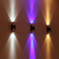 Led Modern Wall Lamp 2W Ac85-265V Sconce Decor Fixture Light Lamp W/ Scattering Light For Bedroom/Dinning Room/Restroom