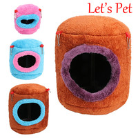 New Hammock For Ferret Rabbit Rat Hamster Squirrel Parrot Hanging Bed Toy House Cotton Cloth Blend Random Color Pet Supplies