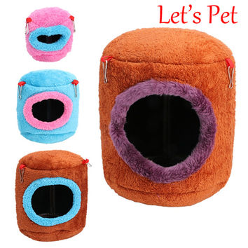 Let's Pet  New Hammock For Ferret Rabbit Rat Hamster Squirrel Parrot Hanging Bed Toy House HXP001