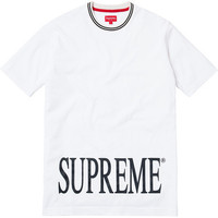 SUPREME WHITE RIB T SHIRT - A Very Based You