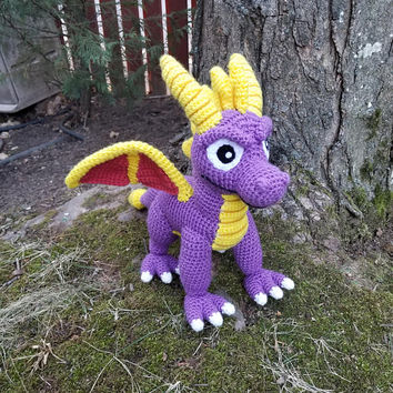 Spyro the Dragon Inspired: Spyro Amigurumi (Crochet Plushie/Plush Toy) - MADE TO ORDER!