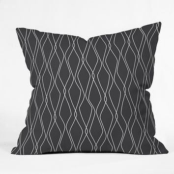 Heather Dutton Fuge Slate Throw Pillow