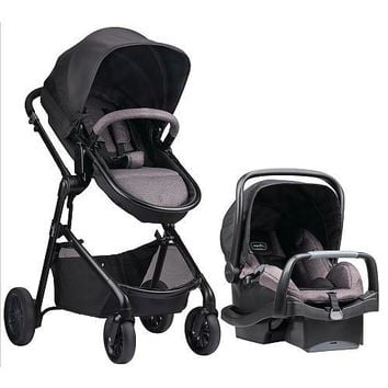 Luxury Stroller Pram Travel System with  Infant Car Seat - Casual Gray