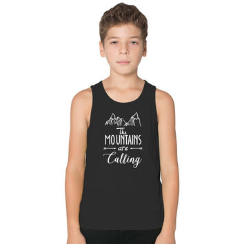 The Mountains Are Calling And I Must Go Kids Tank Top