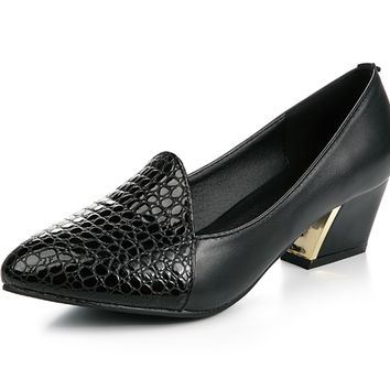 Womens Lovely Office Dress Heel Shoes