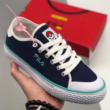 Fila X Pokemon Classic Kicks B Fashion casual shoes canvas shoes