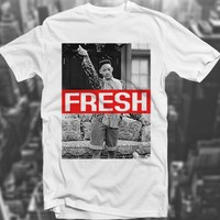 Fresh Prince Swagg 90's Sk8r Hipster Will Smith Trill White Polyester T shirt