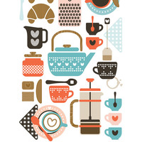 "Coffee & Tea - 11""x17"" Print"